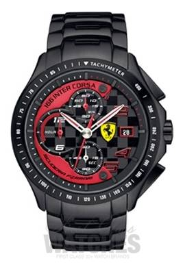 men black silicone rev watches scuderia s ferrari watch red