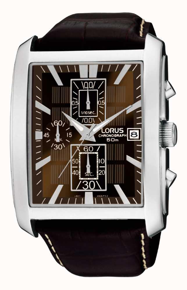Lorus Mens Rectangular Smart Chronograph Watch Rm319bx9 First