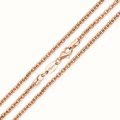 MY iMenso Diabomba Necklace (925/Rosegold-Plated) 80cm E-C 27-0025-80
