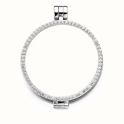 MY iMenso Medallion With Cz-Stones 33mm (925/Rhod-Plated) 33-0070