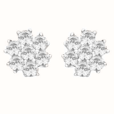 Perfection Swarovski Seven Stone Cluster Stud Earrings (1.05ct) E0021-SK