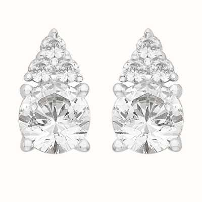 Perfection Swarovski Single Stone Stud Earrings With Trilogy part (1.10ct) E3882-SK