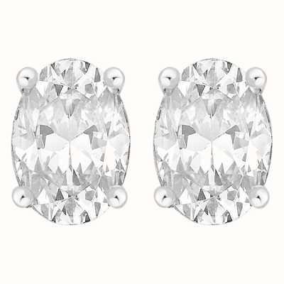 Perfection Swarovski Single Stone Claw Set Oval Stud Earrings (1.50ct) E3943-SK