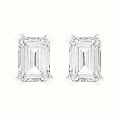 Perfection Swarovski Single Stone Claw Set Emerald Stud Earrings (2.00ct) E4038-SK