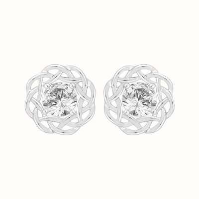 Perfection Swarovski Single Stone Nest Stud Earrings (0.66ct) E4039-SK