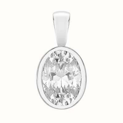 Perfection Swarovski Single Stone Rubover Oval Cut Pendant (1.25ct) P5502-SK