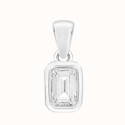 Perfection Swarovski Single Stone Rubover Emerald Pendant (0.50ct) P5678-SK