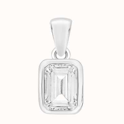 Perfection Swarovski Single Stone Claw Set Emerald Pendant (0.25ct) P5680-SK