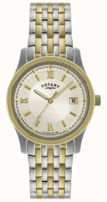 Rotary Mens Two-Tone Steel Bracelet Watch GBI0793/09