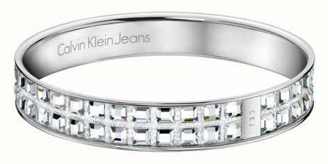 Calvin Klein Womens Crystal Set Bangle KJ37AB01050M