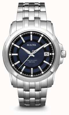 Bulova Mens Precisionist Blue Silver Watch 96B159