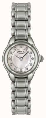 Rotary Womens Stone Set Stainless Steel Watch LB02601/07