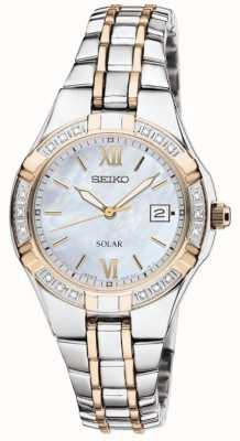 Seiko Womens' Dress Watch Solar | Stainless Steel Strap | SUT068P9
