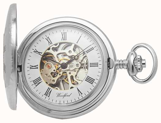 Woodford | Half Hunter | Chrome Plated | Skeleton | Pocket Watch | 1020