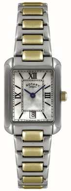 Rotary Womens' Two-Tone Gold-Plate & Stainless Steel Pearl Dial Watch LB02651/41