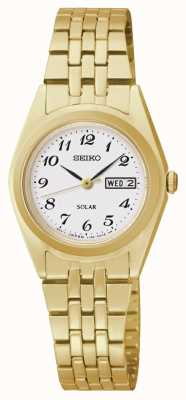 Seiko Solar Powered Gold Tone Classic Dial Watch SUT118P9