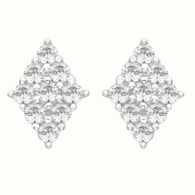 Perfection Swarovski Diamond Shaped Cluster Stud Earrings (0.80ct) E3673-SK