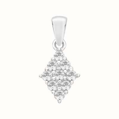 Perfection Swarovski Diamond Shaped Cluster Pendant (0.50ct) P3293-SK
