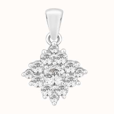 Perfection Swarovski Diamond Shaped Cluster Pendant (0.75ct) P4629-SK