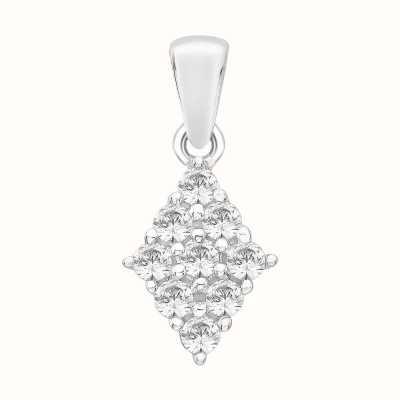 Perfection Swarovski Diamond Shaped Cluster Pendant (1.00ct) P4988-SK