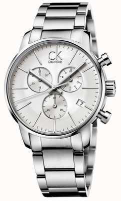Calvin Klein Mens City Stainless Steel Chronograph K2G27146