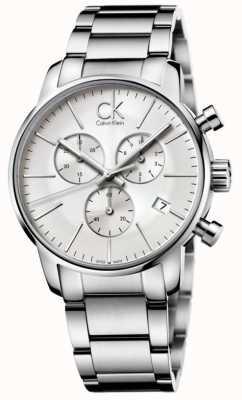 Calvin Klein Mens City Stainless Steel Chronograph K2G27146