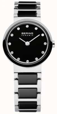 Bering Time Ladies Black and Silver Ceramic 10725-742