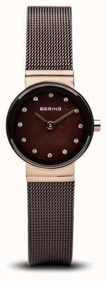 Bering Time Ladies Brown Classic Mesh Watch 10122-265
