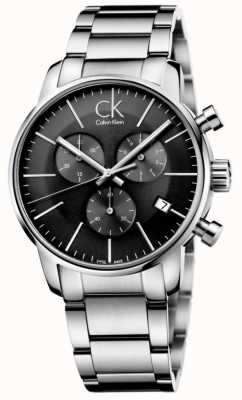 Calvin Klein Mens City Stainless Steel Grey Dial Watch K2G27143