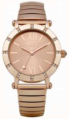 Lipsy Rose Gold Expander Bracelet Watch LP100