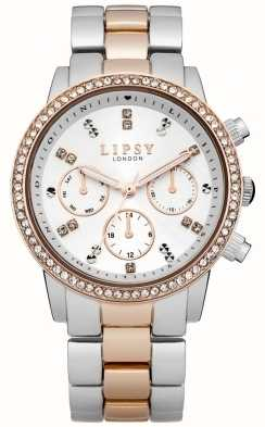 Lipsy Ladies White and Two Tone Bracelet Watch LP161