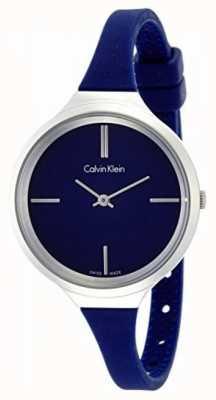 Calvin Klein Ladies Lively Blue Silicone Strap K4U231VN