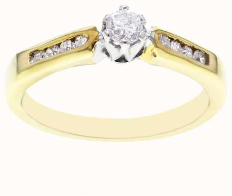 18k Yellow Gold Diamond Stone and Channel Ring FCD00407