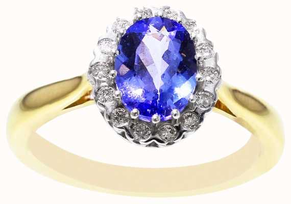 Diamond & Tanzanite Ring 18ct FCD00435