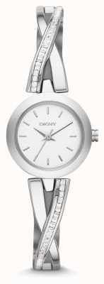 DKNY Ladies Crosswalk Silver Stone Set Watch NY2173