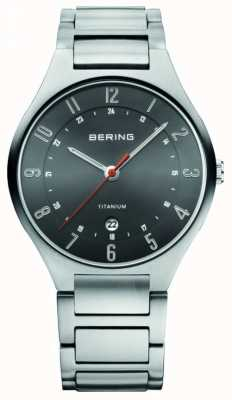 Bering Mens Titanium, Black Dial Watch 11739-772