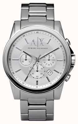 Armani Exchange Mens Silver Steel Chronograph AX2058
