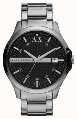 Armani Exchange Gents Smart Silver Tone Watch AX2103