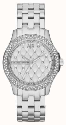 Armani Exchange Womens Smart Stainless Steel Bracelet Crystal Set AX5215