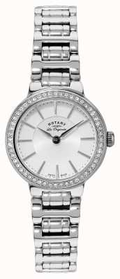 Rotary Womens Les Originales Stainless Steel Crystal Set Watch LB90081/02