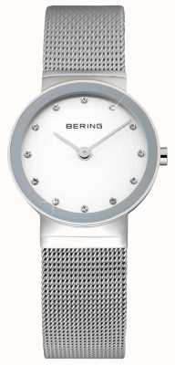 Bering Ladies' Classic | Stainless Steel Mesh Strap | White Face | 10122-000