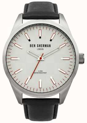 Ben Sherman London Mens Watch Black Strap White Dial WB007S