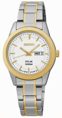 Seiko Womens Day/Date Display Watch Two Tone SUT162P1