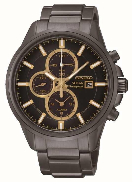c9d2004f640 Seiko Mens Sports Alarm Chronograph Solar Powered Watch SSC269P9 ...