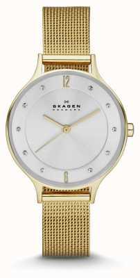 Skagen Ladies Anita Gold Plated Bracelet Watch SKW2150