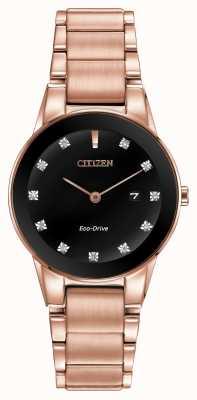 Citizen Womens Axiom Rose Gold Plated Eco-Drive GA1058-59Q