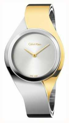 Calvin Klein Womens Senses, Two Tone, Gold & Steel Small Watch K5N2S1Y6