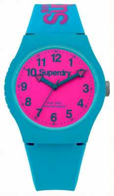 Superdry Urban Teal Silicone Strap Watch SYG164AUP