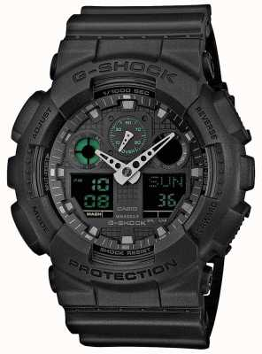 Casio G-Shock Stealth Green Black Mens World Timer GA-100MB-1AER