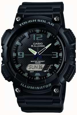 Casio Mens Five Alarm Solar Powered Illuminator Black AQ-S810W-1A2VEF